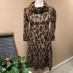 New Direction Leopard Print Dress Size Small